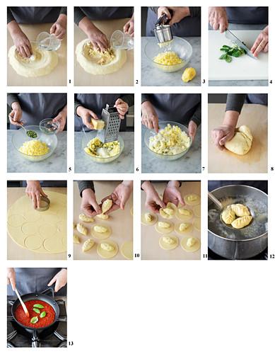 Culurgiones (Nudeltaschen mit Kartoffelfüllung, Italien) zubereiten