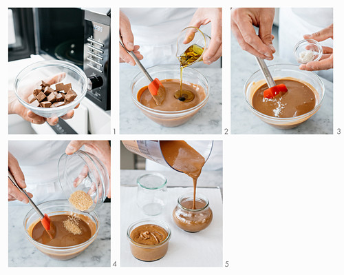 Making chocolate nut spread