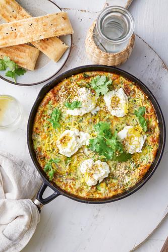 Omelett mit Labne und Dukka