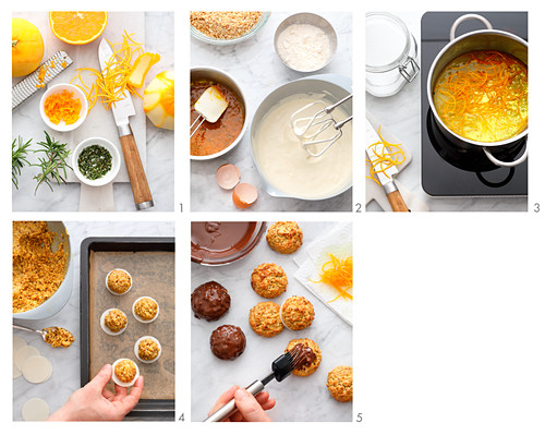 Mini gingerbread baked with candied oranges