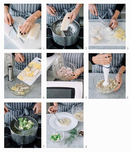 How to make stockfish on Jerusalem artichoke and romanesco puree