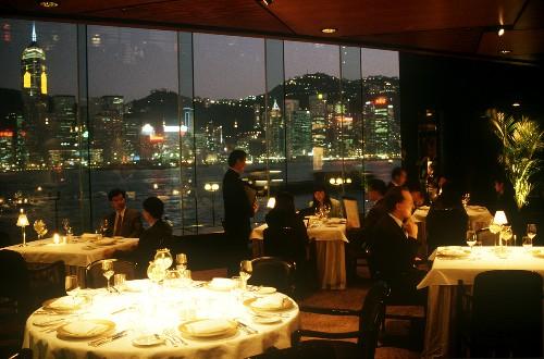 Restaurant Scene at the Regent Hotel in Hong Kong