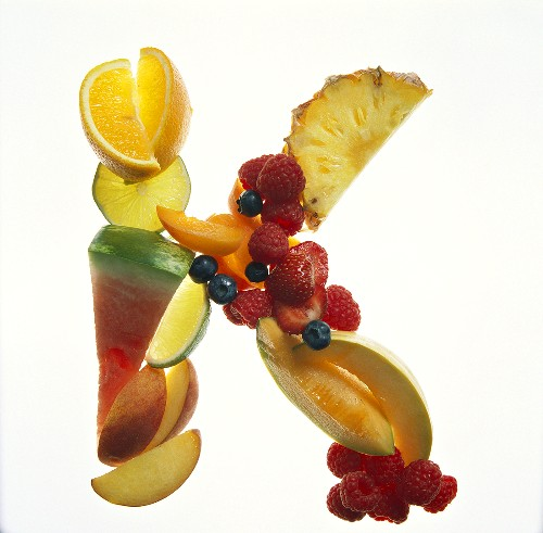 Fruit Forming the Letter K