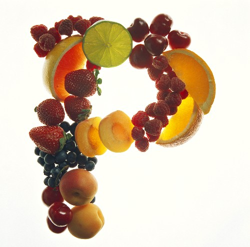 Fruit Forming the Letter P