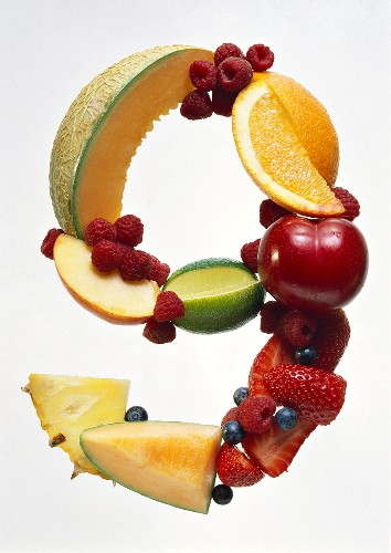 Fruit Forming the Number 9
