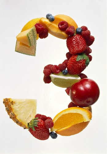 Fruit Forming the Number 3