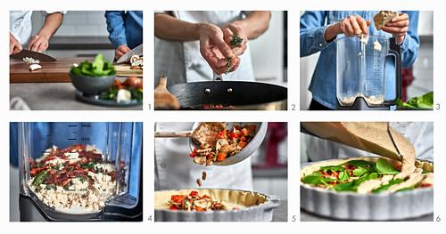 Vegane Gemüse-Quiche zubereiten