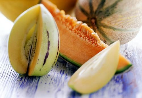 Cavaillon, netted & Pepino melon (cut into and in slices)