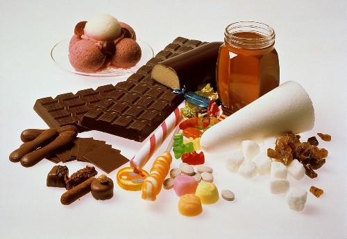 Assorted Sugars; Ice Cream; Candy; Honey