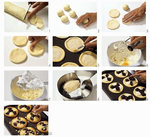 Making Bohemian pastries (Kolatschen)