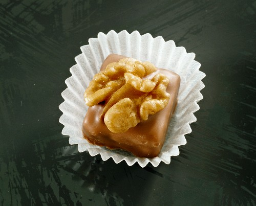 A walnut and marzipan chocolate