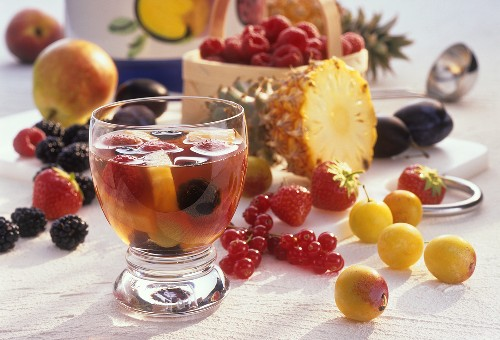 Fruit in alcohol