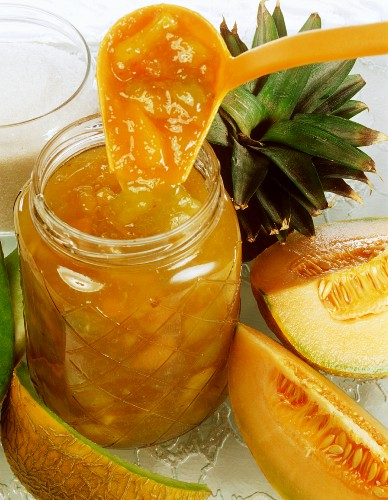 Melon and pineapple jam
