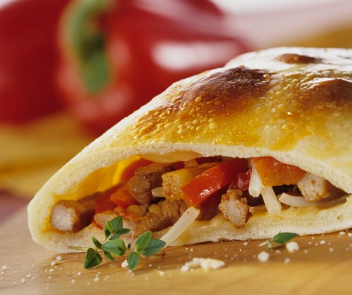 Asian filled calzone