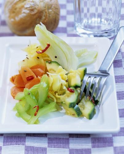 Tunisian pickled vegetables