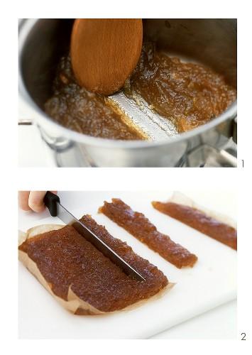 Making apple paste