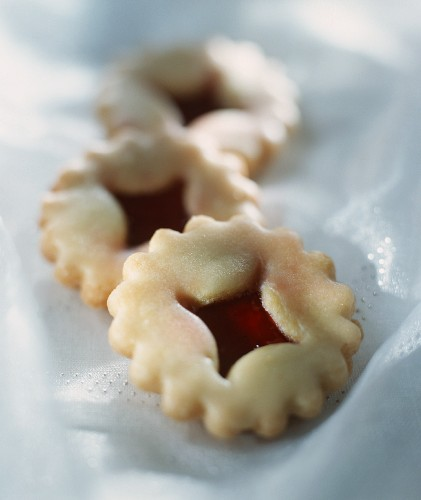 Butter biscuits with jam filling