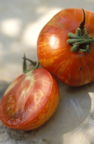 Red striped tomato, variety Red Zebra