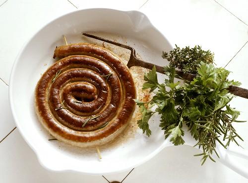Rolled-up Bratwurst