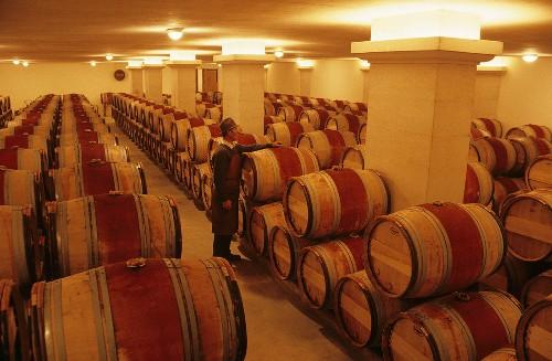 Wine cellar of Château Cheval Blanc, St. Emilion, France