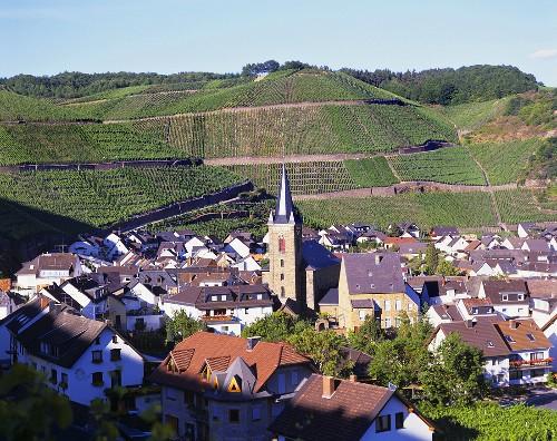 Dernau, a wine village in the Ahr valley, Germany