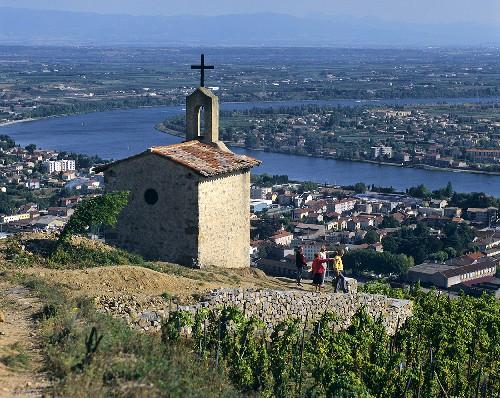 Old chapel in La Chapelle vineyard, Tain-l'Hermitage, Rhône