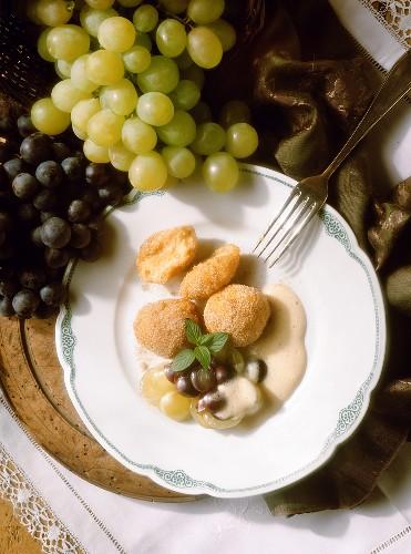 Rye Bread Dumplings on Wine Froth