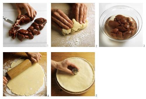 Making steak and kidney pie