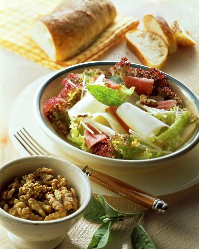Antipasto di Bresaola e Asiago (ham and cheese salad)