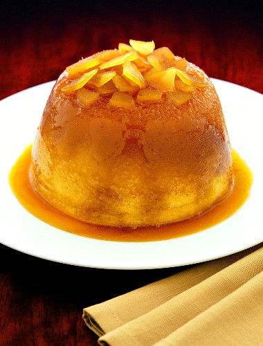 Ginger pudding with syrup