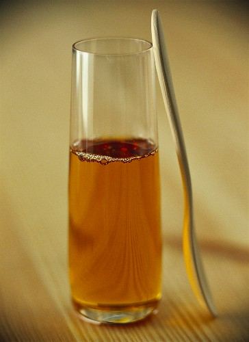 Acacia juice in glass