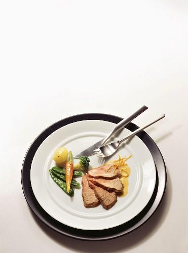 Veal fillet with orange sauce