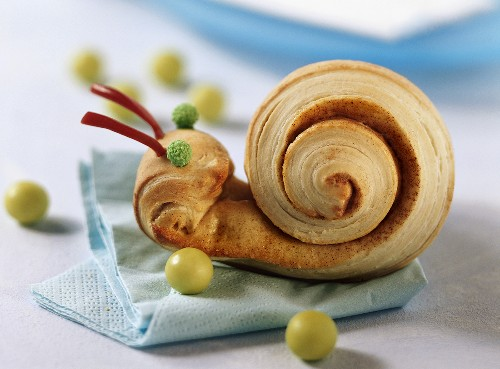 Coiled Danish pastry for children