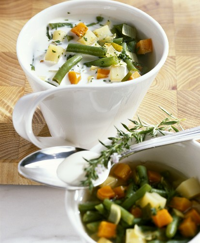 French bean soup with cream (Rhineland-Palatinate, Germany)