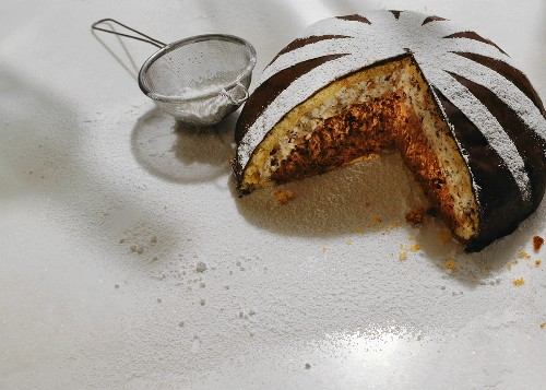 Zuccotto (chilled dome cake), Tuscany, Italy