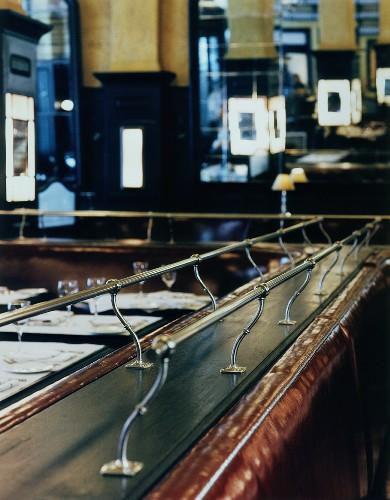 Interior view of New York restaurant, 'Balthazar'