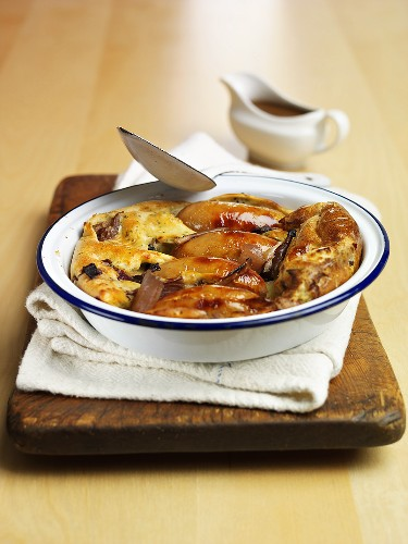 Toad-in-the-hole (Sausages baked in batter, UK)