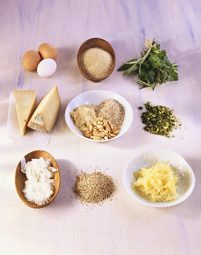 Ingredients for breadcrumb coating