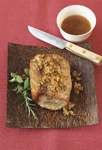 Arrosto alla lucana (Roast pork with onions, Italy)