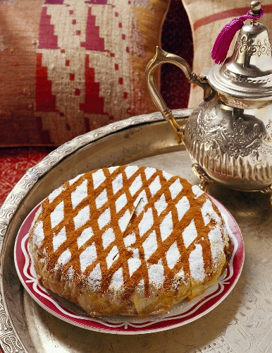 Pastilla with pigeon and egg filling, Morocco