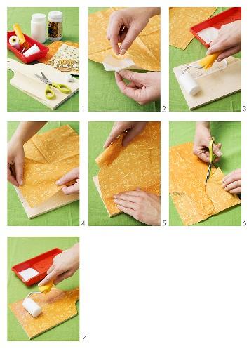 Making a home-made chopping board