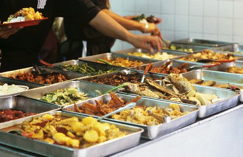 Various dishes on a street stall (Malaysia)