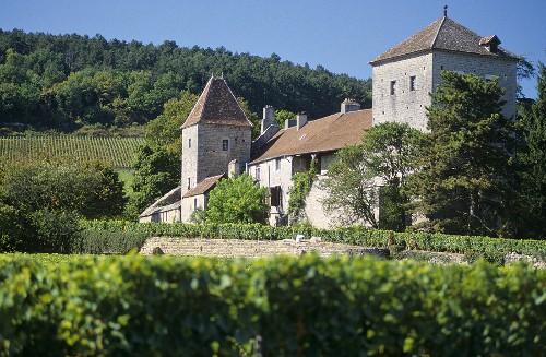 Das Chateau de Gevrey-Chambertin, Cote de Nuits, Burgund