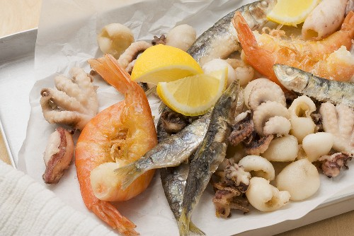 Fritto misto (fried seafood, Italy)