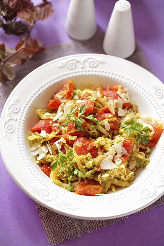 Chinese cabbage and tomato salad