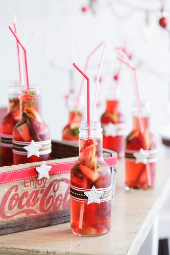 Sangria in small bottles