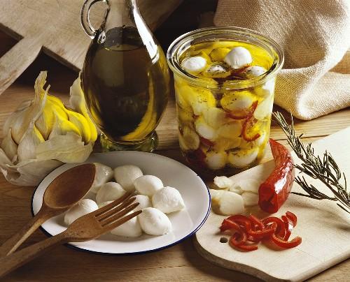Pickled mozzarella