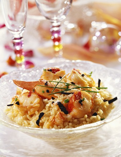 Lobster and truffle risotto