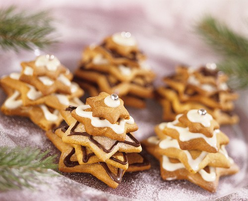 Trees made from gingerbread stars