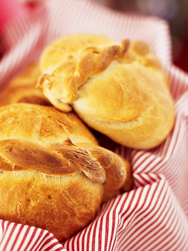 Fresh plaited bread